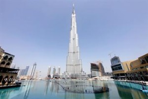 Glass covered Burj Dubai in April this year. (DENNIS B MALLARI)