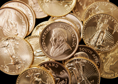 COIN PLAN: Dubai is planning to introduce a gold coin as legal tender, like the American Eagle and South African Krugerrand pictured. (Getty Images)