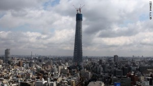 The Tokyo Sky Treewill stand at 2,080 feet when completed.