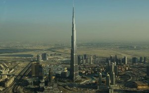 The Burj Khalifa soars above Dubai