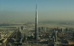 The Burj Khalifa soars above Dubai