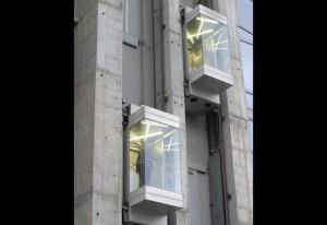 A modern lift installation from ThyssenKrupp