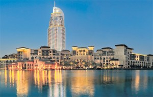 The Palace in Dubai's Old Town and The Address in Downtown Burj Dubai. Emaar remains bullish about entering the Indian hospitality sector. (EB FILE)