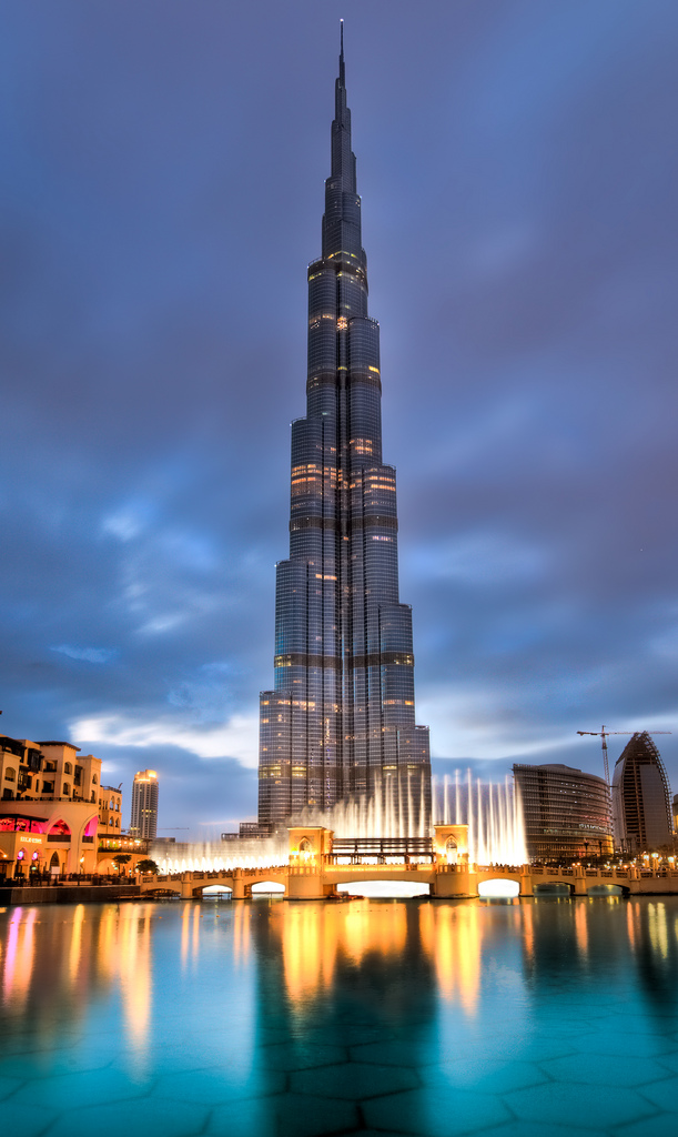 Machu picchu and burj khalifa back in biz burj khalifa for The burg hotel dubai