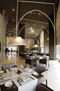In addition to 160 guest rooms, Armani Hotel also includes eight meticulously designed restaurants.