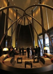 Armani Hotel located in Burj Khalifa, world's tallest building in Dubai, United Arab Emirates. (AP Photo/Kamran Jebreili)
