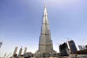 Prices range between 180,000 to 260,000 dirhams for one-bed flats and start from 300,000 dirhams for two-bed apartments in Burj Khalifa, the world's tallest building. Photograph: Getty Images