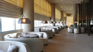 Ristorante, with its circular tables and arching lights.