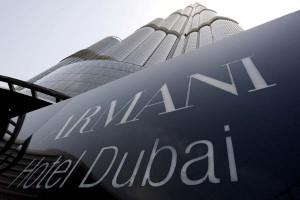 Italian designer Giorgio Armani has opened his first signature hotel in the world's tallest building in the Gulf emirate of Dubai.