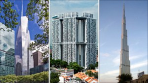 The Bank of America Tower, the Pinnacle @ Duxton and the Burj Khalifa were also shortlisted