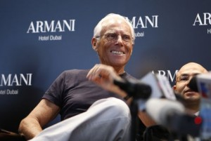 FASHION ICON: Giorgio Armani at the press conference to launch the Armani Hotel Dubai (ITP Images)
