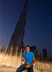 © Dubai Duty Free Tennis ChampionshipsRoger Federer visited the spectacular Dubai Fountain