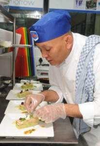 Pastry Chef Nana Supriatna (pictured) and his team will be just one of four teams hoping to win the title of Anchor MasterChef on Tuesday.