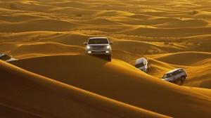 Dune bashing in Dubai. Picture: David Bowden