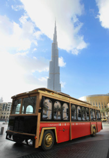 Downtown Dubai introduces new Trolley Bus tours.