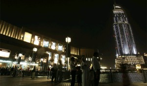 Earth Hour being observed at Burj Plaza near Downtown in Dubai
