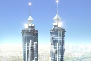 Artists impression of the 335m JW Marriott Marquis Hotel, set to open in 2012