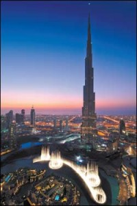 The Armani Hotel is housed in the Burj Khalifa in Dubai
