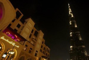 The world's tallest structure Burj Khalifa is seen next to Souk Al Bahhar (L) in Dubai April 1, 2011.  Credit: Reuters/Jumana El-Heloueh