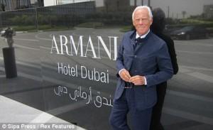 High fashion: Giorgio Armani and his hotel in Dubai