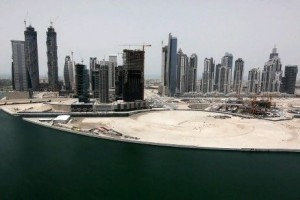 Agents say the image of Business Bay as a construction site makes it a tough sell for businesses, which have an array of options in Dubai.  Pawan Singh / The National