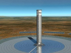 The EnviroMission solar tower will be twice as tall as the Empire State Building. Photographer: EnviroMission