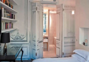 One of the deluxe suites in Maison Martin Margiela's Paris hotel