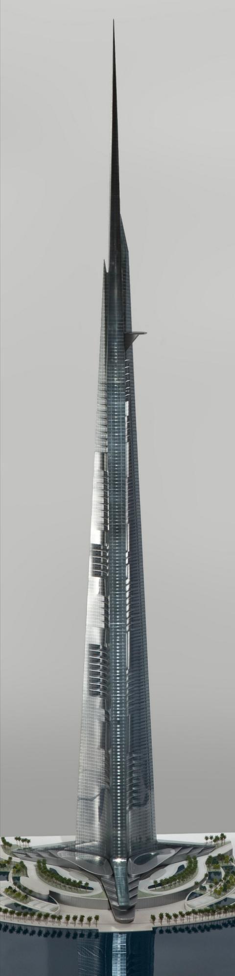 Высота башни обязывает иметь одну из самых сложных систем лифтов в мире. Всего подъёмников в здании будет 59, в том числе пять двухэтажных. Ожидаемая скорость лифтов – 10 метров в секунду (36 км/ч). Это быстро, но существуют «элеваторы», развивающие 60,6 км/ч (иллюстрация Adrian Smith + Gordon Gill Architecture).