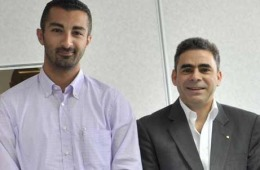 Laith Haboubi, Business Development Director, MAPEI (right) and Mohsen Hankir, Executive Manager, Emirates Ceramic (left).