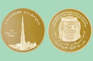 "*  Image Credit: Supplied     * The ""Khalifa"" coin features a portrait of His Highness Shaikh Khalifa on one side, and on the other, Burj Khalifa, the world's tallest tower."