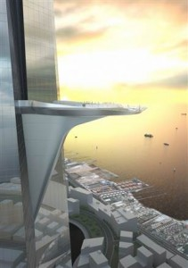 Adrian Smith + Grodon Gill Architecture A model of Kingdom Tower's sky terrace.