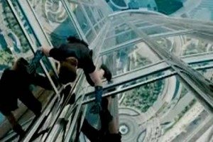Footage has been released on the internet of Tom Cruise performing his own stunts at Burj Khalifa for the movie, Mission: Impossible Ghost Protocol.
