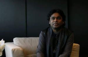 """For me, music is therapy,"" says AR Rahman, an Indian music composer, at Armani Hotel in Burj Khalifa. Jeffrey E Biteng / The National"