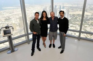 "*  Image Credit: Getty Images     * Actors Tom Cruise, Paula Patton, Simon Pegg and Anil Kapoor attend a photocall ahead of the ""Mission: Impossible - Ghost Protocol"" Press Conference during the 8th Annual Dubai International Film Festival held on the 124th floor of the Burj Khalifa on December 7, 2011 in Dubai, United Arab Emirates."
