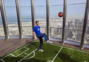 Andy Murray visited the Burj Khalifa in Dubai, the world's tallest building