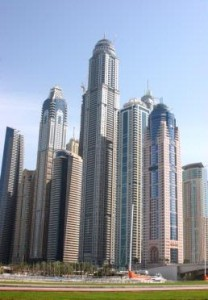 Photo caption: Princess Tower dome and mast completed reaching final height of 414m.