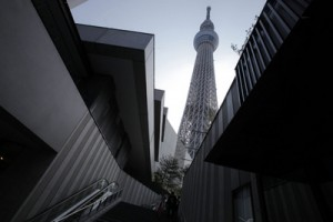 The Tokyo Skytree The building will open to the public in May.