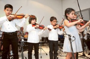 Image Credit: Arshad Ali/Gulf News     Dubai Youth Orchestra, a group of musicians dominated by children aged five and up, held its annual concert on Sunday at the Pavilion Downtown Dubai.