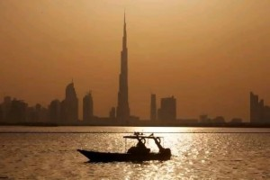 A sunset view of the Burj Khalifa in Dubai. Christopher Pike / The National