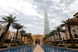 The Burj Khalifa is seen from the Al Qasr hotel in the Old Town in Downtown Dubai. The emirate's buoyant hotel industry sustained its upturn in the first six months of 2012 with a 10 per cent surge in hotel guests compared to the corresponding period in 2011. — Reuters