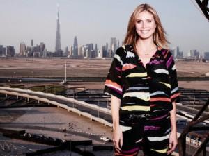 Supermodel Heidi Klum posing for the camera while in Dubai. (Twitter)