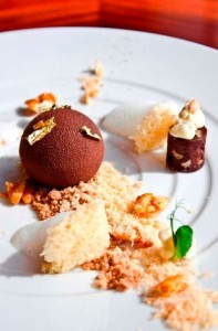 At.mosphere's signature Chocolate Earth Sphere dessert