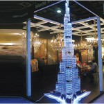 Swarovski crystals  'Burj Khalifa' model at Dubai interiors event