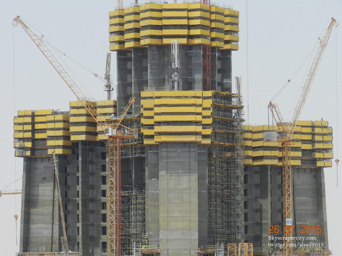 Kingdom Tower Jeddah Construction Update Burj Khalifa